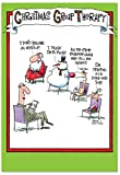 B5799K Box Set of 12 Box Of Group Therapy Christmas Cards Hilarious Blank Christmas Card; with Envelopes