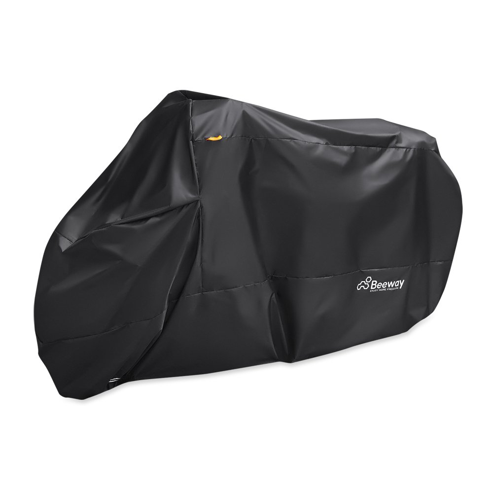 Beeway® 190T Housse de protection pour moto en nylon étanche, Protège de la pluie, des UV, de la poussière, Utilisations intérieure/extérieure, avec oeillets pour passage de l'antivol, Extra Large 240cm, S