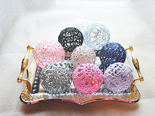 Lace Crochet balls, Wedding decor idea, Vase Filler, Handmade project supplies, Set of 5 crochet - Lace Vases