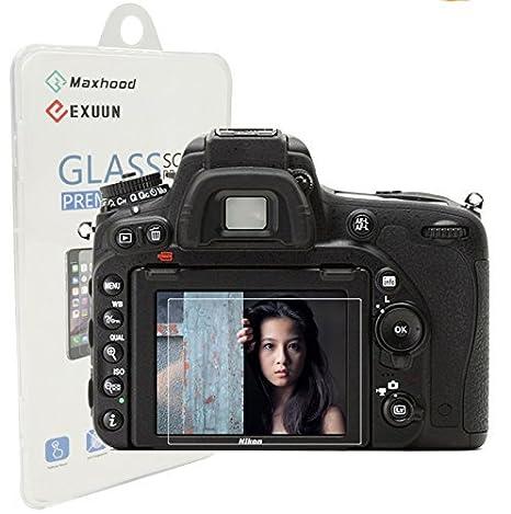 66e1f8c4cd LCD per Nikon D750-Proteggi schermo in vetro temprato, Maxhood ottico, 0,