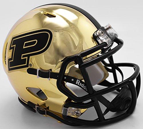 Riddell NCAA Purdue Boilermakers Unisex Purdue Boilermakers Helmet Replica Mini Speed Style Chrome Alternatehelmet Replica Mini Speed Style Chrome Alternate, Team Colors, One Size