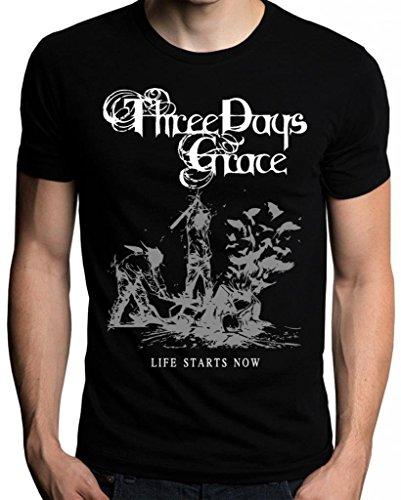Three Days Grace Life Starts Now T-Shirt Medium Black