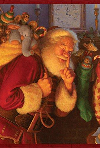 (Toland Home Garden Secret Santa 12.5 x 18 Inch Decorative Christmas Eve Gift Garden Flag)