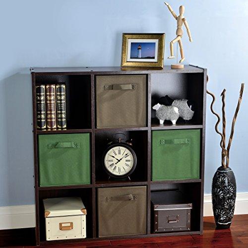 VCCUCINE Multipurpose Shelves Bookcase Storage Units 9 Cube Organizer, Espresso