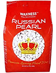 Waxness Wax Necessities Polymer Blend Luxury Hard Wax Beads Russian Pearl 2.2 Pound