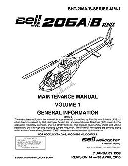 bell 206 model a b and b3 maintenance manual volumen 1 bell rh amazon com bell 212 helicopter maintenance manual bell helicopter maintenance manual login