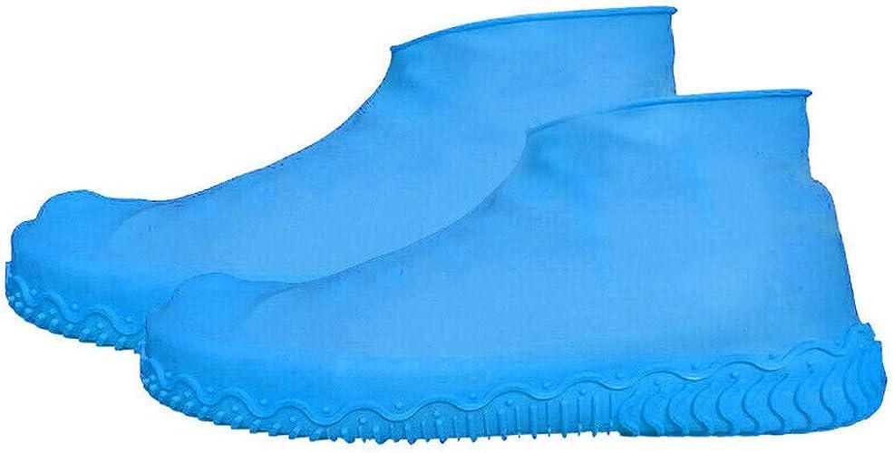 Cubrecalzado Lavable Cubierta del Zapato Reutilizable Para D/ías de Lluvia y Nieve Cubierta del Zapato Funda de Silicona para Zapatos con Suela Antideslizante Cubierta del Zapato Impermeable