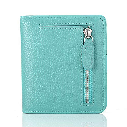 FUNTOR Leather Wallet for women, Ladies Small Compact Bifold Pocket RFID Blocking Wallet for Women, -