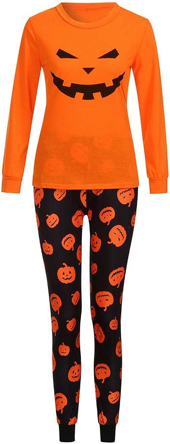cinnamou Pijama Set Familiar De Halloween Conjunto De Pijama ...