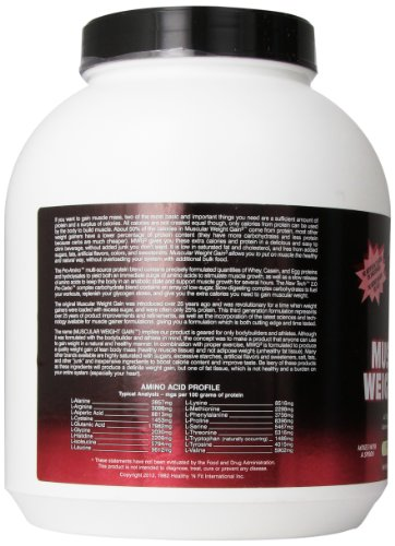 Healthy 'n Fit Muscular Wt Gain v3.0, Extreme Vanilla, 4.4-Pounds Tub