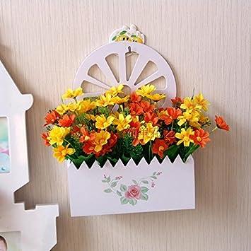 Charmant XIN HOME Holz  Hängenden Korb Simulation Künstliche Blumen Kleine  Chrysantheme Blume Fake Blume Anzug Wohnzimmer