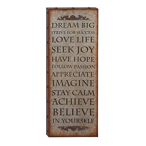 HomeRoots Wall Decor With Rustic Finish And Robust Design