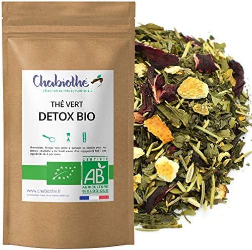 Té verde DETOX BIO 200g - 100 tazas - orgánico - bolsa biodegradable:  Amazon.es: Alimentación y bebidas