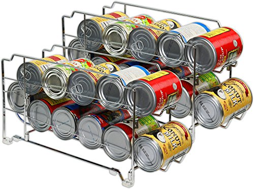 2 Pack - SimpleHouseware Stackable Front Loading Beverage Can Dispenser Rack, Chrome by Simple Houseware (Image #4)