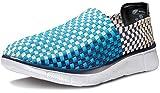 Tesla MK-V474-BN_Men 7 D(M) Makani Unisex Lightweight Woven Sneaker Slip-on Shoe V474