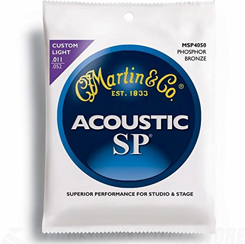 Martin MSP 4050 SP Phosphor Bronze Custom Light Acoustic Guitar Strings Custom Acoustic Guitar