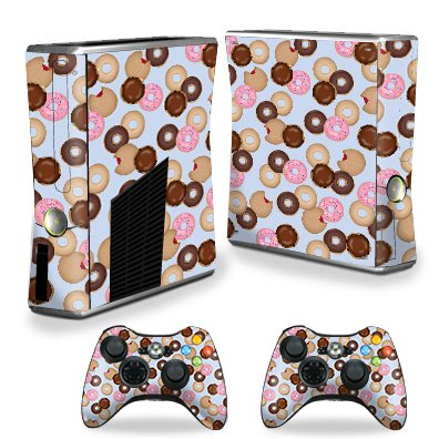 MightySkins Skin for X-Box 360 Xbox 360 S Console - Donut Binge | Protective, Durable, and Unique Vinyl Decal wrap Cover | Easy to Apply, Remove, and Change Styles | Made in The USA