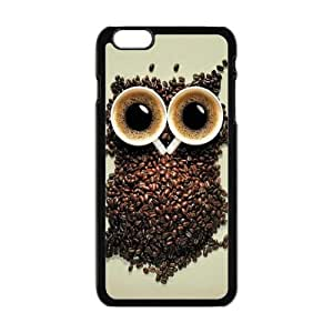 New Classic Charming Design Personalized Owl Coffee iPhone6 Plus 5.5 Plastic Shell Hard Case