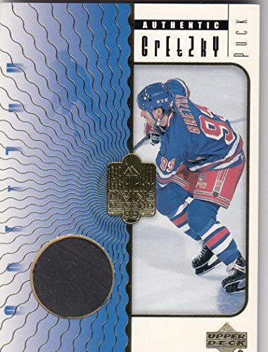 1999 Upper Deck Game Used Puck #P2 Wayne Gretzky #P2 MEM NY Rangers from Game Used Puck