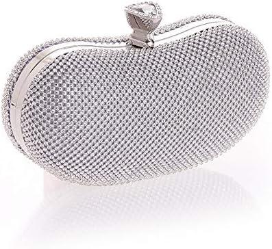 JIA JIA Sélection De La Mode Européenne Et Américaine Sacs À Main Sac Tide Diamant Forfait Dîner Technologie Exotique Emballons Argent 20,5 * 6 * 9cm Brillant