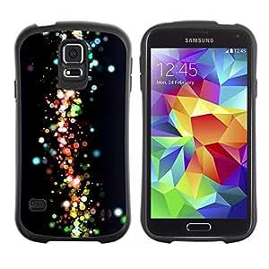 LASTONE PHONE CASE / Suave Silicona Caso Carcasa de Caucho Funda para Samsung Galaxy S5 SM-G900 / Neon Dots Space Galaxy Colors