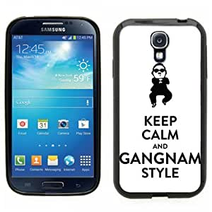 Samsung Galaxy S4 SIIII Black Rubber Silicone Case - Keep Calm and Gangnam Style