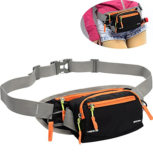 SINOKAL Fanny Pack Waist bag with Water Bottle Holder Multifunctional Bum Bag Running Belt Bag Pouch for Hiking Running Cycling Camping Climbing Travel
