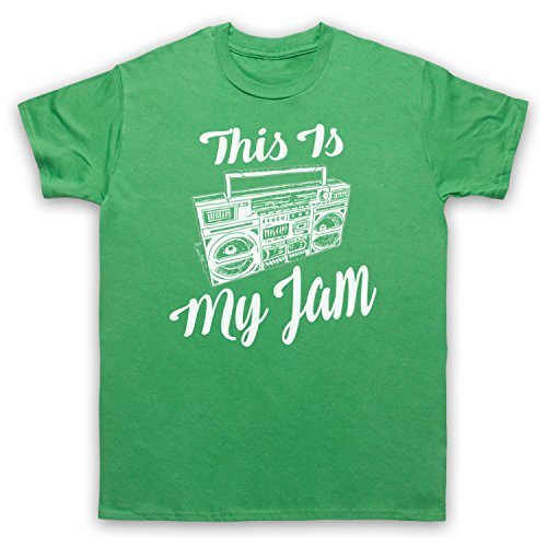 This Is My Jam Music Slogan Camiseta para Hombre Verde