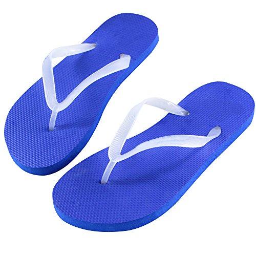 Slim Tongs Flip Chaussures Pour Plage Bout Hommes Amoureux Les De Ouvert Chaussons Sandales Flops Eizur Eté Décontractée Unisexe Bleu Femmes Lumineux Plat q85w8tg