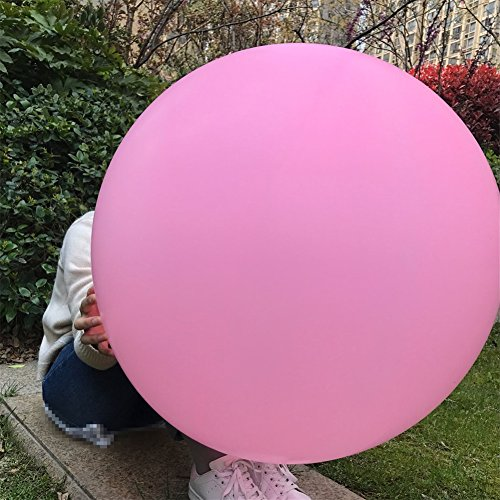GuassLee 5 Giant Balloon 36 Inch Round Latex Big Balloon Large Thick Balloons for Photo Shoot/Birthday/Wedding Party/Festival/Event/Carnival Decorations Pink