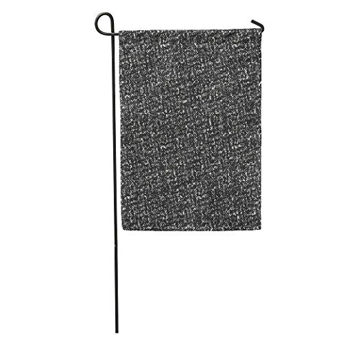 Guardian Tweed - kurui-RSlin Garden Flag Tweed Abstract Charcoal Melange Dyed Effect Space Birdseye Black Creative Home Yard House Decor Barnner Outdoor Stand 12x18 Inches Flag