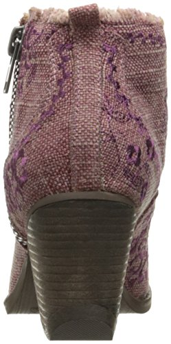 Naughty Monkey Women's Sewn up Ankle Bootie Plum D79nvh3yBK