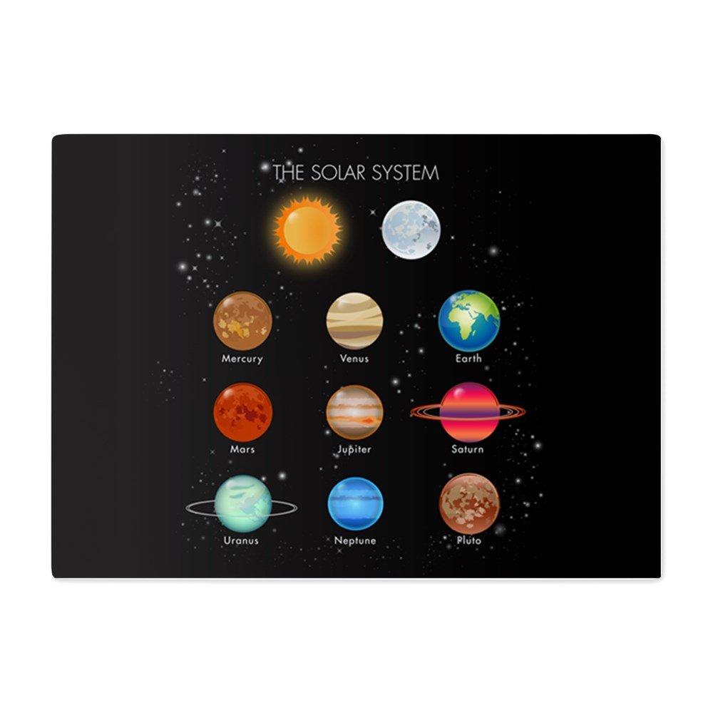 Glass Cutting Board Large Solar System Sun Moon and Planets