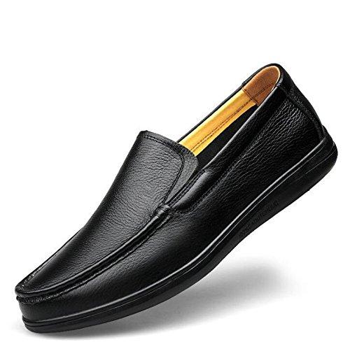 conducción 38 cuero hombre Tamaño genuino Soft carrera Comfort Comfort Black y oficina ligero Zapatos 44 a Mocasines B74qxUqw