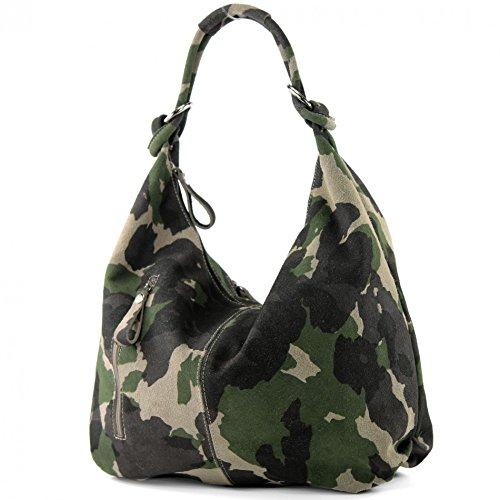 Modama de sac en camouflage Pelle Hobo Vera Grande T158