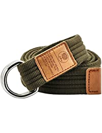 Canvas Belts D Ring Buckle,Adjustable Solid Color Military Style Web Belt