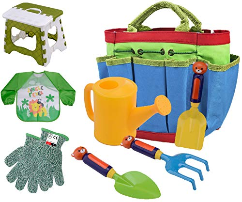 Brilliant Details About Kids Gardening Tools Outdoor Toys Set Garden Gloves Smock Apron Work Bench Pdpeps Interior Chair Design Pdpepsorg