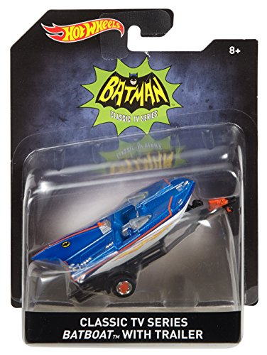 Hot Wheels Classic TV Series Batboat with Trailer Vehicle (Costumes Starting With N)