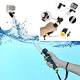 XSHOT YICHUMY Floating Selfie Stick for Gopro Extendable Floating Monopod Floating Handheld Monopod with Remote 14-22'' Waterproof Telescoping Pole for GoPro Hero 5 Session,4,4s,3,2,1 HD Cameras
