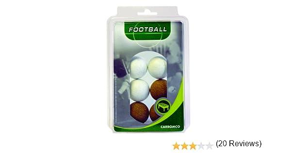 Carromco 62306 Pelotas de futbolin, Unisex, Multicolor (Corcho Natural/ Corcho Blanco), 36 mm Conjunto de 6: Amazon.es: Deportes y aire libre