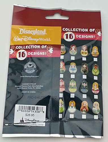 Disney Nesting Dolls 5 Pin Collectible Packs NEW