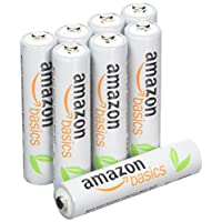 AmazonBasics AAA Rechargeable Batteries (8-Pack) Pre-charged - Packaging May Vary