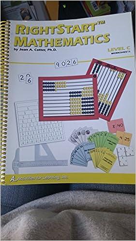 RightStart Mathematics Level C Worksheets: Cotter: 9781931980074 ...