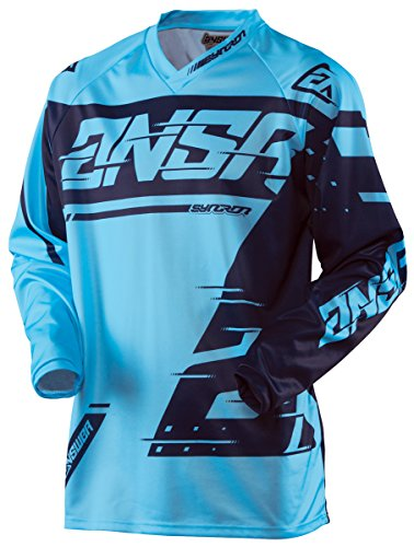 Answer Racing A18 Syncron Youth Boys Off-Road Motorcycle Jerseys - Cyan/Navy / Medium by Answer