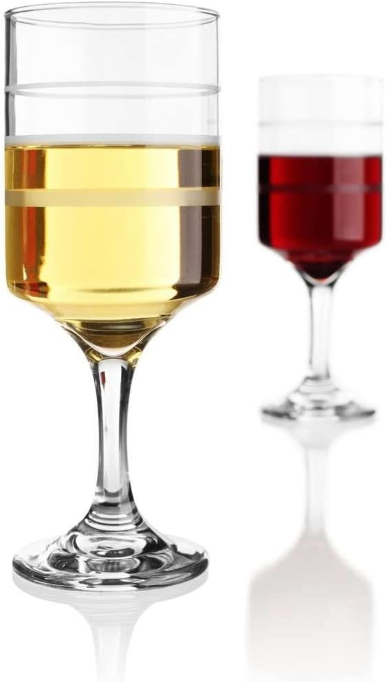 Wine-Trax The Measuring Wine Glass Portion Control Wine Glasses Set of 4 Weight Management