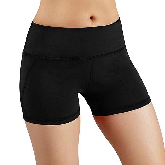 Mymyguoe Pantalones Mujer Cortos Negros Leggings Mujeres ...