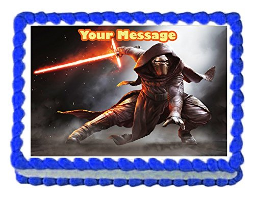 Kopykake 1/4 Sheet Kylo Ren Star Wars Edible Image Cake Topper Decoration Personalized - 7.5