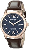 SO&CO New York Men's 5011L.2 Madison Analog Display Quartz Brown Watch by SO&CO MFG