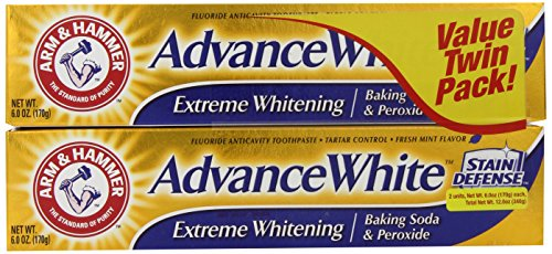 Arm   Hammer Advance White Extreme Whitening Baking Soda And Peroxide Toothpaste  6 Ounce  Twin Pack