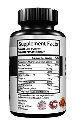 Ultra Test Complex Testosterone Booster With Horny Goat Weed, Tribulus, Saw Palmetto More For Strength, Energy, Recovery, Libido Booster, Build Muscle Fast, Boost Performance, Burn Fat